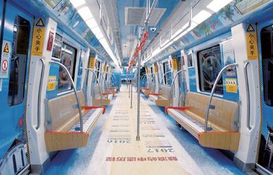 厦门地铁全景内包车广告